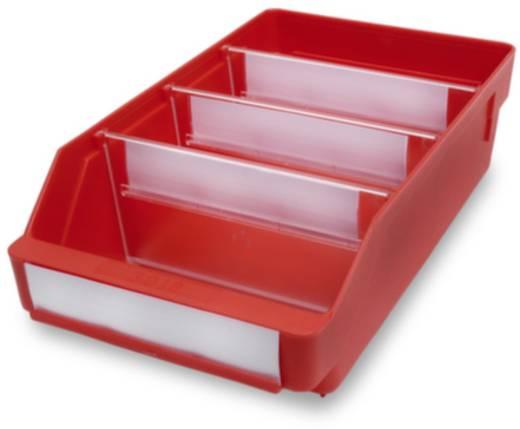 Regalkasten lebensmittelgeeignet (B x H x T) 180 x 95 x 300 mm Rot 520105 20 St.