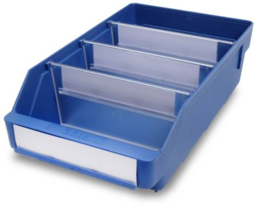 Regalkasten lebensmittelgeeignet (B x H x T) 180 x 95 x 300 mm Blau 510105 20 St.