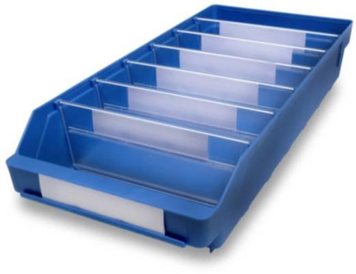 Regalkasten lebensmittelgeeignet (B x H x T) 240 x 95 x 500 mm Blau 510303 15 St.
