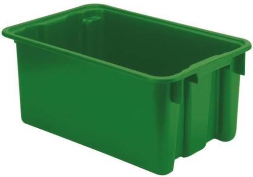 Stapelbehälter lebensmittelgeeignet (L x B x H) 600 x 400 x 250 mm Grün LB 60/40 5 St.