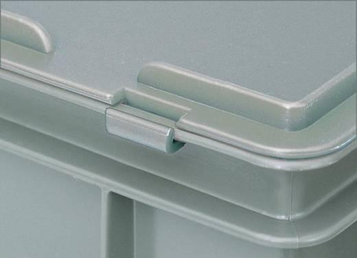 Stapelbehälter lebensmittelgeeignet (L x B x H) 600 x 400 x 135 mm Grau 1658295 1 St.