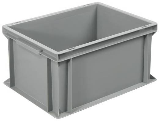 Stapelbehälter lebensmittelgeeignet (L x B x H) 400 x 300 x 220 mm Grau Basic 1658755 1 St.