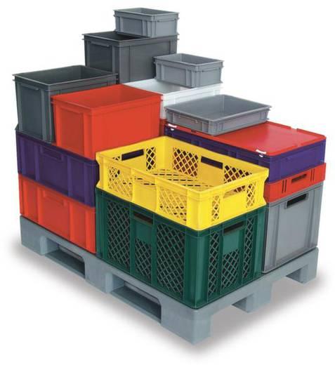 Stapelbehälter lebensmittelgeeignet (L x B x H) 600 x 400 x 410 mm Grau Basic 1658759 1 St.