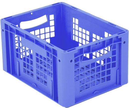 Stapelbehälter lebensmittelgeeignet (L x B x H) 400 x 300 x 220 mm Blau Ergonomic 1658766 1 St.