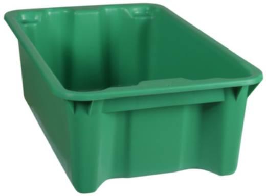 Stapelbehälter lebensmittelgeeignet (L x B x H) 590 x 380 x 202 mm Grün 1658787 1 St.