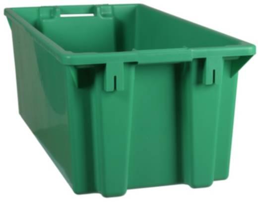 Stapelbehälter lebensmittelgeeignet (L x B x H) 800 x 400 x 300 mm Grün 1658788 1 St.