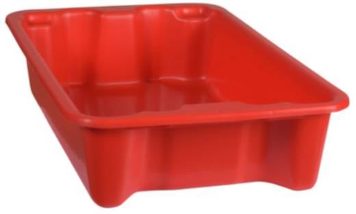 Stapelbehälter lebensmittelgeeignet (L x B x H) 590 x 380 x 135 mm Rot 1658792 1 St.