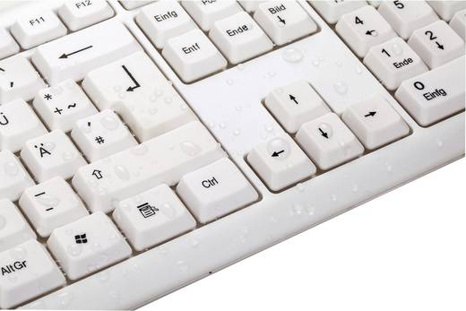USB-Tastatur Hama Verano Weiß Spritzwassergeschützt