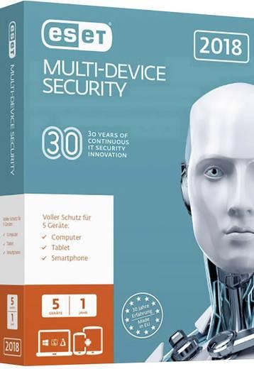 ESET Multi-Device Security 2018 Vollversion, 5 Lizenzen Mac, Windows ...