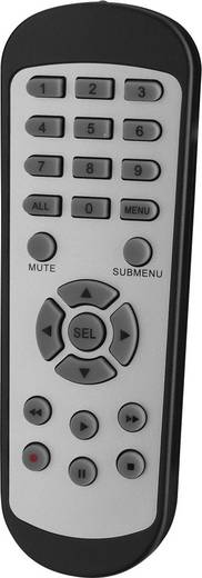 Analog, AHD, HD-TVI Überwachungskamera-Set 4-Kanal mit 2 Kameras 1920 x 1080 Pixel Monacor AXZ-204DV