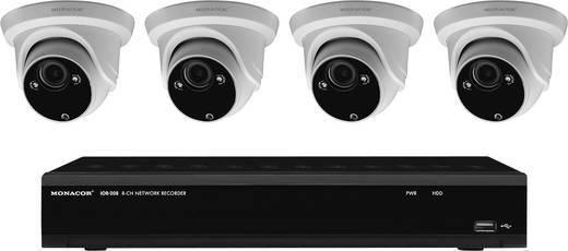 kabelgebunden lan ip berwachungskamera set 8 kanal mit 4 kameras 2048 x 1536 pixel monacor ioz. Black Bedroom Furniture Sets. Home Design Ideas