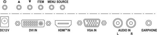 LCD-Überwachungsmonitor 20.3 cm 8 Zoll Monacor TFT-810LED 1024 x 600 Pixel