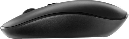 Funk-Tastatur,- Maus-Set V7 Videoseven CKW200ES Spritzwassergeschützt Schwarz