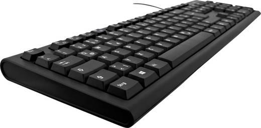 V7 Videoseven KU200DE USB-Tastatur Schwarz