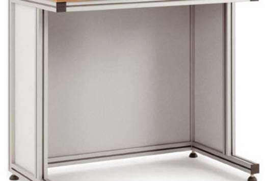 Manuflex ZB8021 Blenden für Pulttisch 1000x600x750 Bestehend aus: 2 x Seitenblende, 1 x Rückblende