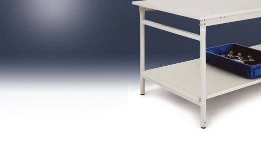 Manuflex ZB3632 Zwischenboden Melamin lichtgrau 930x 475x19mm, mit Unterzug für BASIS 1000x600mm (B x H x T) 930 x 19 x