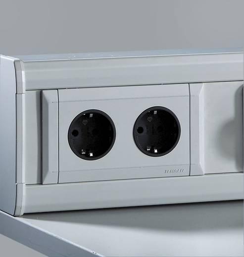 Manuflex ZB3690 Schutzkontakt-Steckdose 2-fach incl. Einbaudose, Blende und Eingangsbuchse für Kabelanschluß 230V