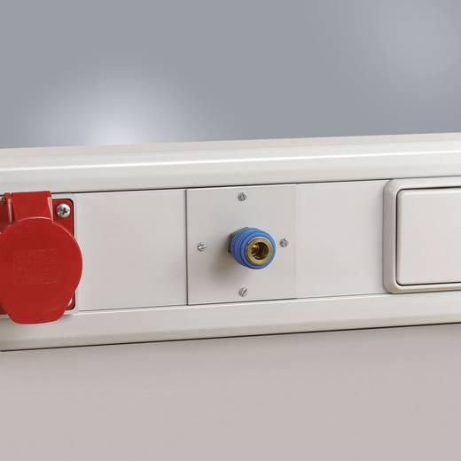 Manuflex ZB3694 Druckluft-Anschlußdose mit Einhandkupplung 1/4 Zoll