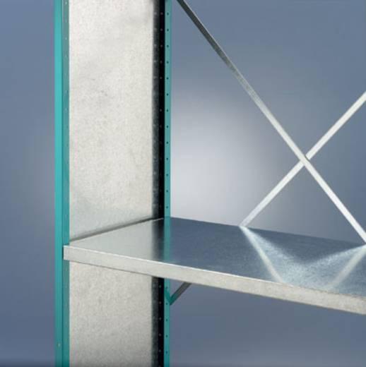 Regalrahmen Stahlblech pulverbeschichtet Manuflex RZ0444.0001 Grau-Grün