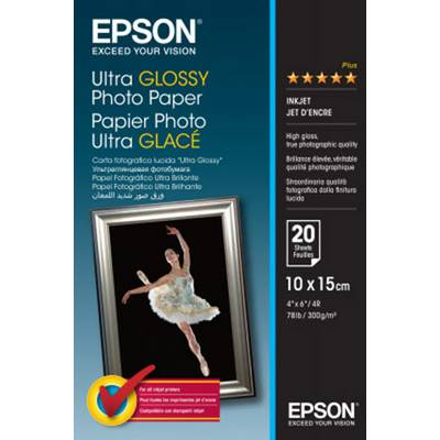 Fotopapier Epson Ultra Glossy Photo Paper C13S041926 300 g/m² 20 Blatt Hochglänzend Preisvergleich