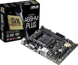Základní deska Asus A68HM-PLUS Socket AMD FM2+ Tvarový faktor Micro-ATX Čipová sada základní desky AMD® A68H