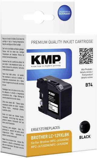 KMP Tinte ersetzt Brother LC-129XLBK Kompatibel Schwarz B74 1534,4001