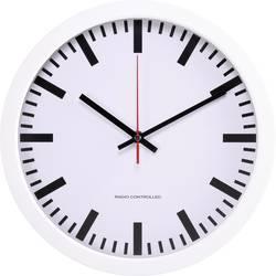 DCF nástenné hodiny Basetech BT-1661718, vonkajší Ø 300 mm, biela