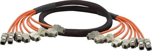 Trunk Netzwerk Anschlusskabel [8x RJ45-Buchse - 8x RJ45-Buchse] CAT 6a S/FTP 8x20 m Orange vergoldete Steckkontakte, Fla