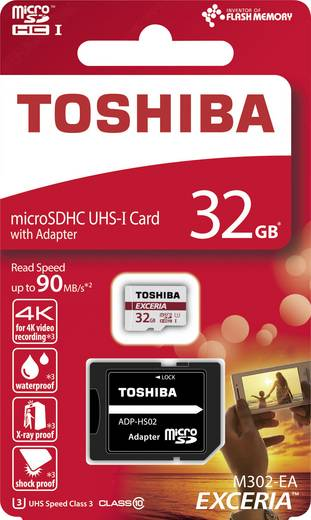 TOSHIBA microSD-Karte THN-M302R0320EA 32GB