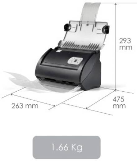 Duplex-Dokumentenscanner A4 Plustek SmartOffice PS186 600 x 600 dpi 25 Seiten/min, 50 Bilder/min USB