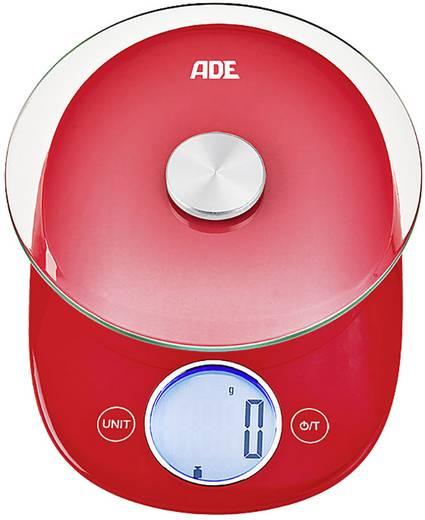 Ade Carla Digitale Kuchenwaage Wagebereich Max 5 Kg Rot