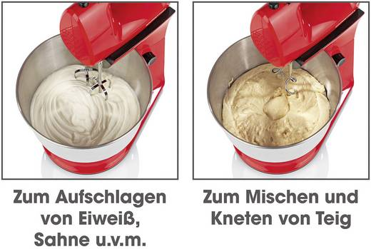 Gourmetmaxx Kuchenmaschine 300 W Rot Kaufen