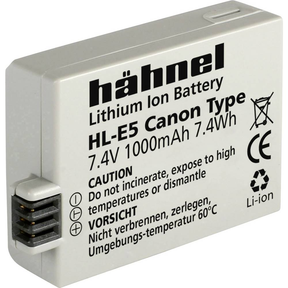 Hähnel HL-E5 Camera-accu Vervangt originele accu LP-E5 7.4 V 1000 mAh