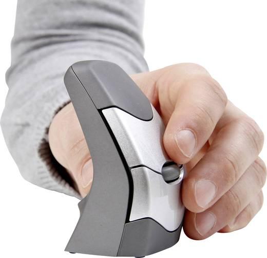 Funk-Maus Optisch BakkerElkhuizen DXT Precision Ergo Ergonomisch Grau, Silber