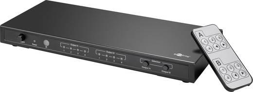 Goobay 58976 4 Port HDMI-Matrix-Switch mit Fernbedienung, Ultra HD-fähig, LED-Anzeige 4K