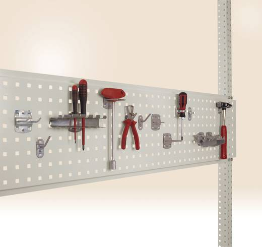 Manuflex ZB3342.9006 Werkzeughalterplatte für Tischbreite 1250 mm Weißaluminium (B x H) 350 mm x 1246 mm