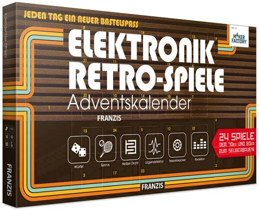 Adventskalender MAKERFACTORY Elektronik Retro-Spiele