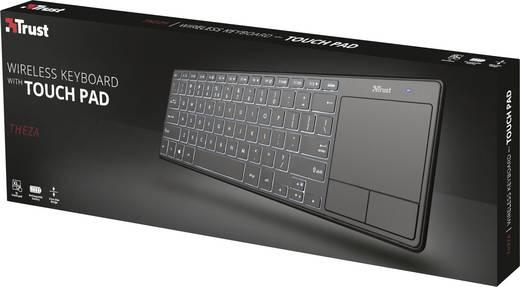 Funk-Tastatur Trust Theza Schwarz Beleuchtet, Integrierter Profilspeicher