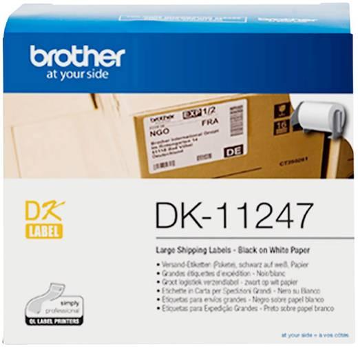Brother DK-11247 Etiketten Rolle 103 x 164 mm Papier Weiß 180 St. Permanent DK11247 Versand-Etiketten, Universal-Etikett