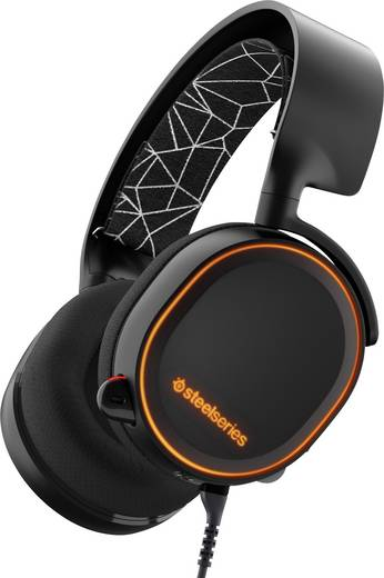 Gaming Headset 3.5 mm Klinke schnurgebunden Steelseries Arctis 5 USB Over Ear Schwarz