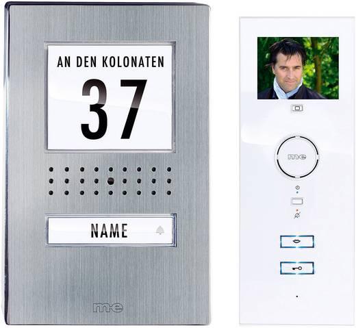 Video-Türsprechanlage Kabelgebunden Komplett-Set m-e modern-electronics 41135 1 Familienhaus Edelstahl, Weiß