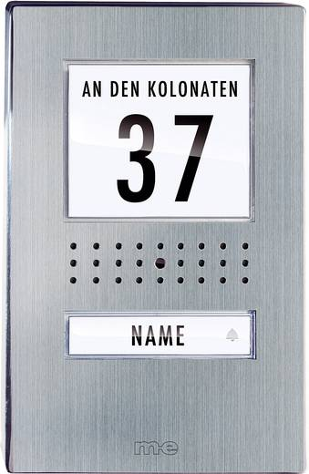 m-e modern-electronics 41136 Video-Türsprechanlage Kabelgebunden Komplett-Set 1 Familienhaus Edelstahl, Schwarz