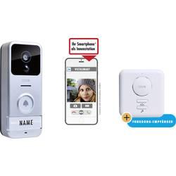 Wi-Fi domové IP / video telefón m-e modern-electronics VS B10 41153, strieborná, čierna