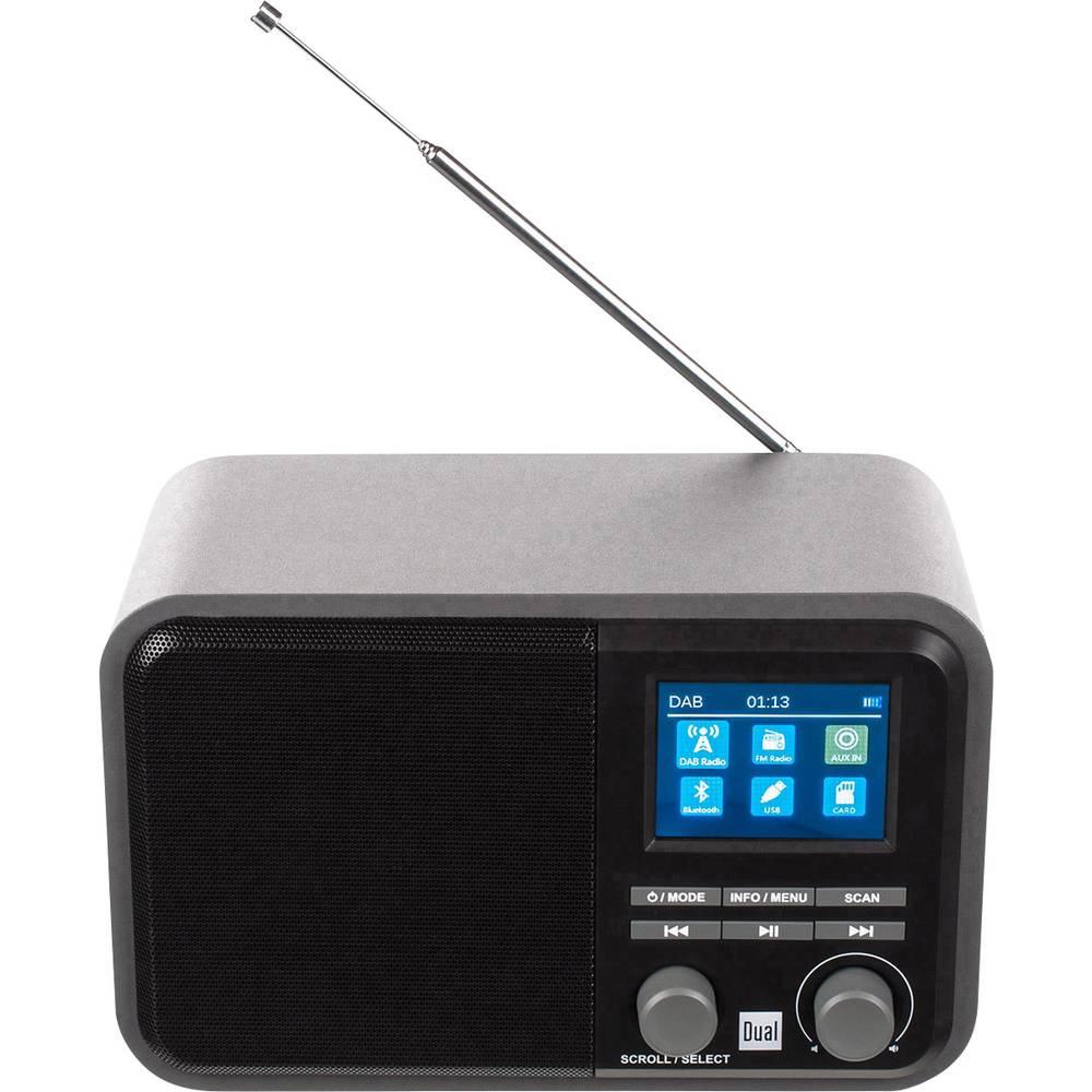 Dual DAB 51 Tafelradio DAB+, FM AUX, Bluetooth, SD, USB Grijs