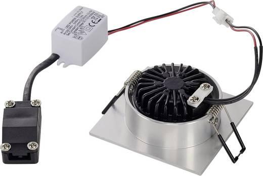 SLV New Tria 1 Set 113966 LED-Einbauleuchte 3 W Warm-Weiß Aluminium (gebürstet)