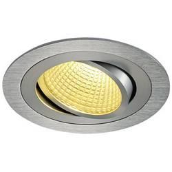 LED vestavné svítidlo SLV New Tria 1 Set 114226, 12 W, teplá bílá, hliník (kartáčovaný)