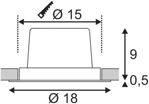 LED-Einbauleuchte 25 W Warm-Weiß SLV New Tria 1 Set 114266 Aluminium (gebürstet)