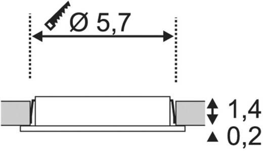 SLV DL 126 112222 LED-Einbauleuchte 3 W Warm-Weiß Chrom