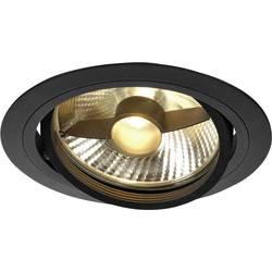 Vstavané svietidlo - halogénová žiarovka, LED SLV New Tria 1 113550 GU10, 75 W, čierna (matná)