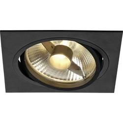 Vstavané svietidlo - halogénová žiarovka, LED SLV New Tria 1 113830 GU10, 75 W, čierna (matná)